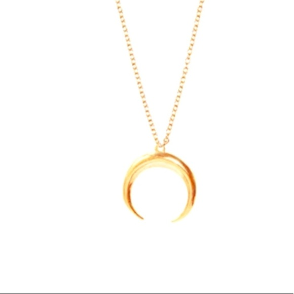 Crescent Horn Gold Necklace
